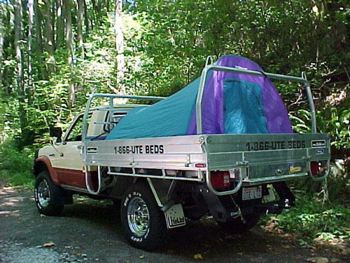 For outback in the woods or on the beach a tent fly or your pop up tent works well on the Ute Tray® for keeping cool. & Ute Ltd Photo Gallery - Tray Tent Fly